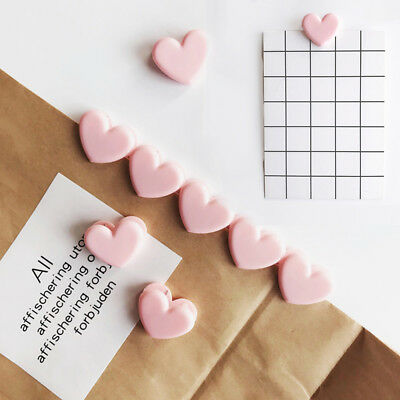 5 Pcs Cute Plastic Love Heart Planner Paper Clip Bookmark School Stationery