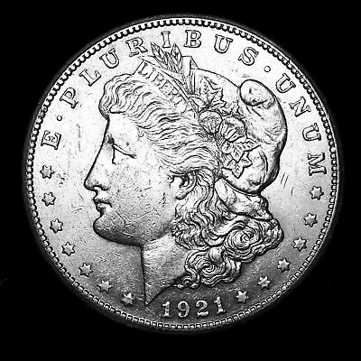 1921 S ~**ABOUT UNCIRCULATED AU**~ Silver Morgan Dollar Rare US Old Coin! #768