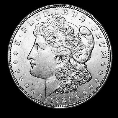 1921 D ~**ABOUT UNCIRCULATED AU**~ Silver Morgan Dollar Rare US Old Coin! #959