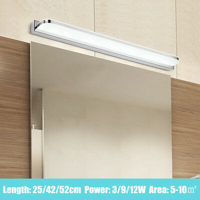 Modern LED Bathroom Front Mirror Wall Light Acrylic Waterproof Lamp Fixture