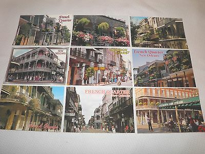 Lot of 9 Postcards of the French Quarter, New Orleans, Louisiana, LA -- Postcard