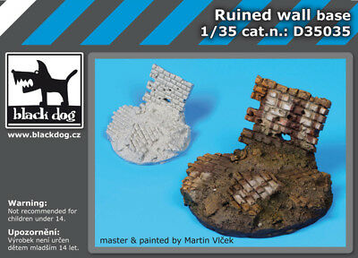 Black Dog D35035 1/35 Ruined Wall Section Diorama Base (Diameter: 60mm)