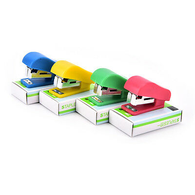 Office Student School Home Mini Cartoon Paper Documents Stapler With Staples Set