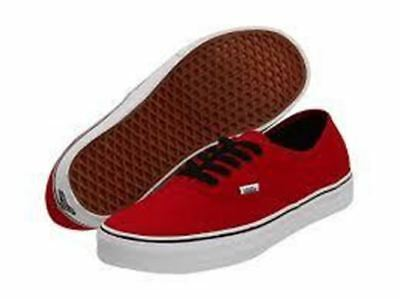 32aee33a6072fc Vans Authentic Chili Pepper Red Black Men s Women s Classic Canvas Shoes