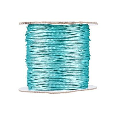 1 Roll 1.0mm LightCyan Korean Waxed Polyester Cord Jewelry Making about 93yards