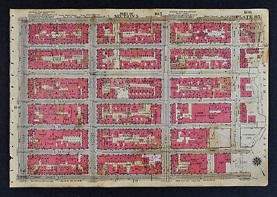 1934 Bromley New York City Map Doelgers Brewey  3rd Avenue Sutton Pl. 53-59th St