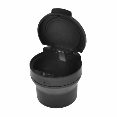 Household Car Auto Portable Cylinder Design Ashtray Black