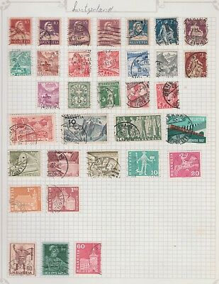 SWITZERLAND Collection Gottardo 1957 Fribourg, Knight, etc USED  As per scan#