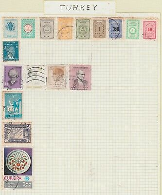 TURKEY Collection Early Issues Europa etc, USED MH (Tone) as per scan #