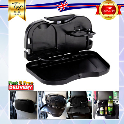 NEW Folding Auto Car Back Seat Table Drink Food Cup Tray Holder Stand Desk UK