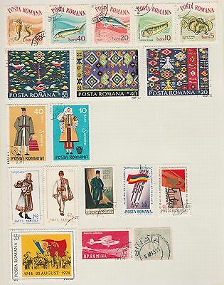 ROMANIA Costumes, Fish etc on Old Book Pages (As Per Scan-pg folded) #