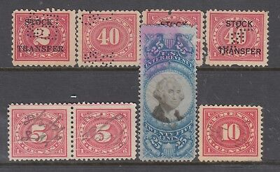 UNITED STATES Back of Book STAMPS Assorted Revenues..