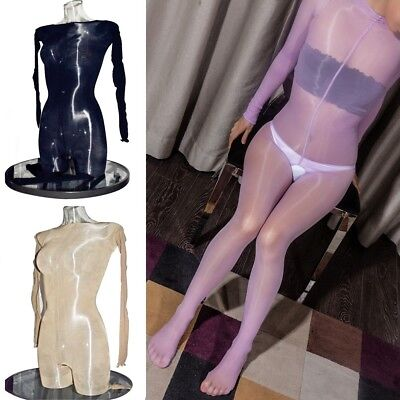 d34e41fbb07 PLUS SIZE High Glossy Oil Shiny Full Bodystocking Nylon Bodysuit Tights  Bodyhose