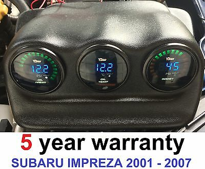 Triple Dash Gauge Pod Holder WRX & STI 2001-2007 FOR Subaru Impreza 52mm dials