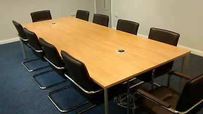 Modern Meeting / Boardroom / Conference Table 3000 x 1200mm 3M Finish Choice