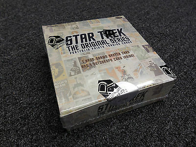 Star Trek The Original Series TOS Portfolio Prints Sealed Box w Sketch & Auto