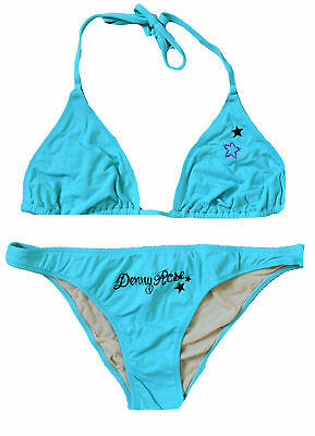 Costume Triangolo Denny Rose Donna Azzurro/Beige Woman Swimsuit Bikini Light Blu