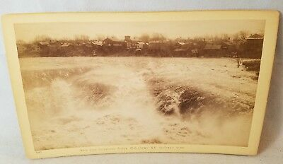 1890's Cabinet Card Photo Watertown N.Y. From Suspension Bridge NO Reserve