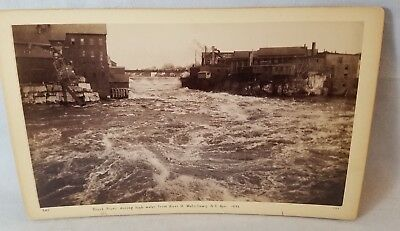 1892 Cabinet Card Photo Watertown N.Y. From River Street NO Reserve