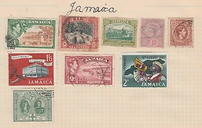 JAMAICA Collection Citrus Grove, Independence etcOld Page as per scan USED MH  #