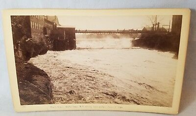 1892 Cabinet Card Photo Watertown NY  From East Side Black River NO Res