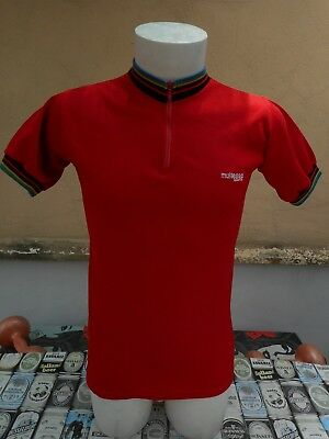 MAGLIA CICLISMO ANNI 80 MULTESSA SPORT VINTAGE  80s CYCLING SHIRT MAILLOT 001
