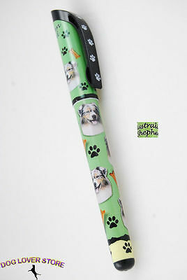 Australian Shepherd Dog Pen Replaceable Ballpoint Black Ink
