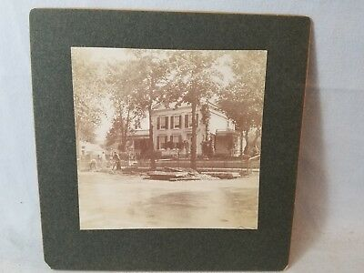 1901 Cabinet Card Photo Watertown, NY Governor Flower House Residence NO Res