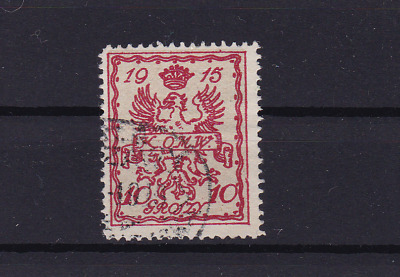 poland warsaw  local post 1915 used stamp  ref r13827