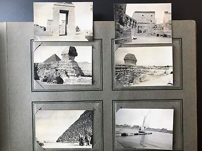 1935 European Travel Photo Album Handwritten Id's Sally Macleod Berwyn PA Egypt