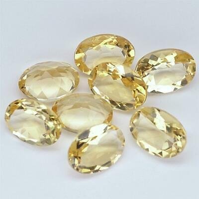 Wholesale Lot of 7x5mm Oval Facet Cut Natural Citrine Loose Calibrated Gemstone