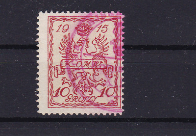 poland warsaw  local post 1915 used stamp  ref r13826