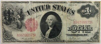 1917 $1 ONE DOLLAR BILL - US Note - Res Seal - No Reserve