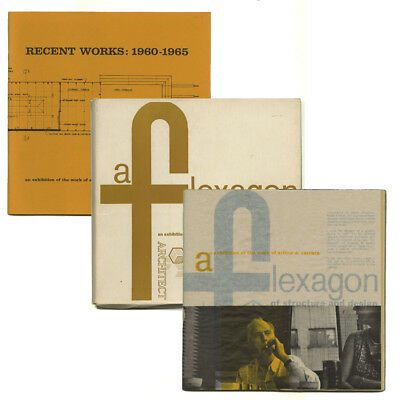 1960/65 Arthur Carrara FLEXAGON STRUCTURE DESIGN Slipcase Exhibition Cat. SET