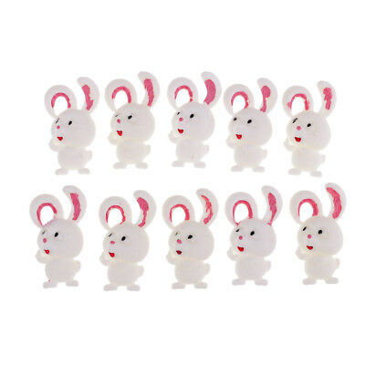 4 Bunny rabbit felties for bow making Easter craft embellishment flat back