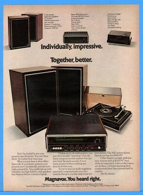 1973 Magnavox Ft Wayne IN Stereo Components Turntable Receiver Speakers Print Ad