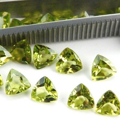 Wholesale Lot 6mm Trillion Facet Cut Natural Peridot Loose Calibrated Gemstone
