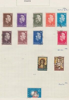 GREECE Collection 1964 Death of King Paul, etc Old Book Pages USED as per scan #