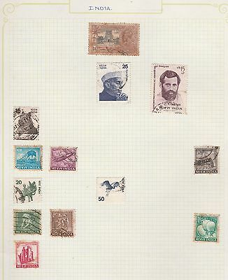INDIA Jubilee, Tiger, etc on Old Book Pages,as per scan #