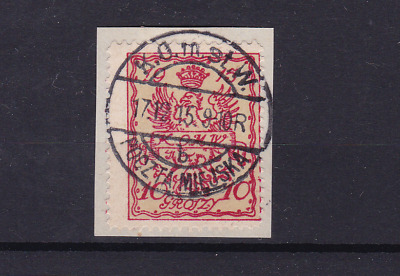 poland warsaw  local post 1915 used stamp  ref r13822