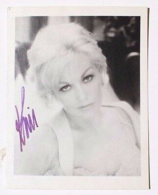 Rare Vintage Kim Novak Autographed Hand Signed Paper Photo 100% Authentic