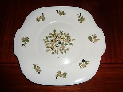 Crown Staffordshire Fine Bone China Bread And Butter Or Cake Plate Green Flowers