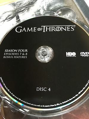 Game of Thrones Season 4 REPLACEMENT DVD Disc #4 ONLY