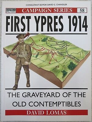 OSPREY CAMPAIGN BOOK No.58 FIRST YPRES 1914 Military History WW1