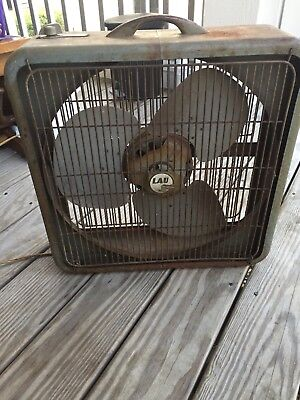 Vintage Lau Box Fan. Three Speeds-FREE SHIPPING!