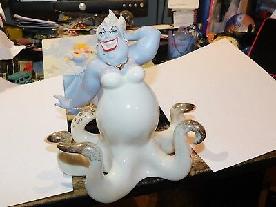 DISNEY LENOX URSULA 24kt ACCENTS FROM THE LITTLE MERMAID COLLECTION RETIRED