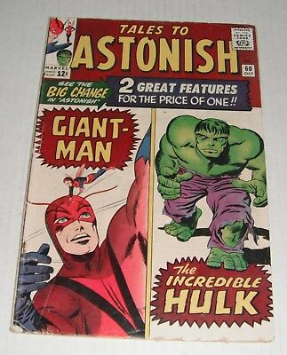 Tales To Astonish # 60...VG-FINE...5.0  grade--B..1964 comic book