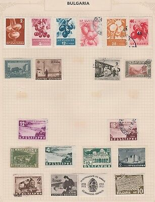 BULGARIA On Old Pages  Fruit, Dam Wall, Trains, etc MINT/USED #