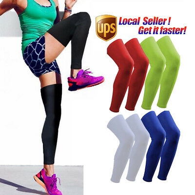 Outdoor Sport Leg Calf Support Stretch Sleeve Graduate Compression Socks Running