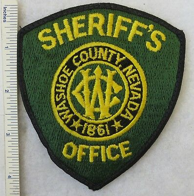 Used WASHOE COUNTY NEVADA SHERRIF'S OFFICE PATCH 1980s Vintage ORIGINAL